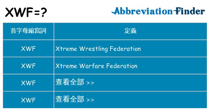xwf 代表什麼