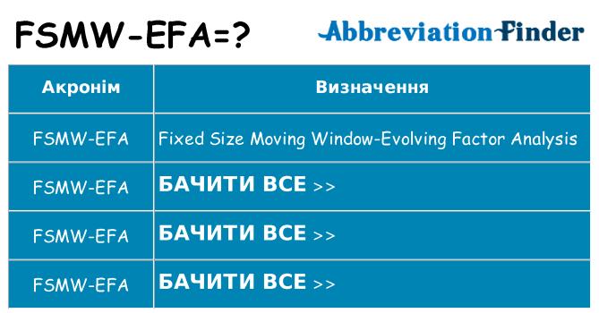 Що fsmw-efa означають