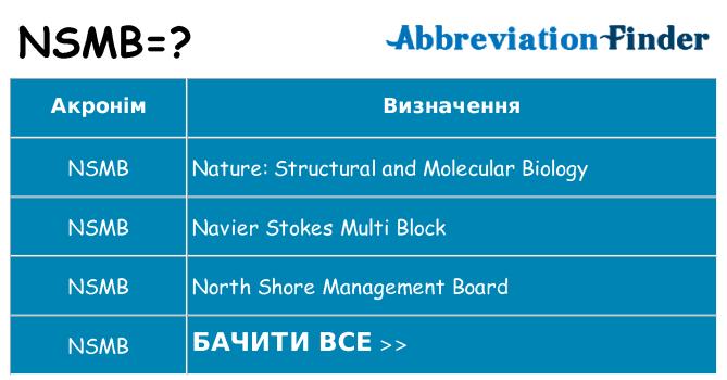 Що nsmb означають