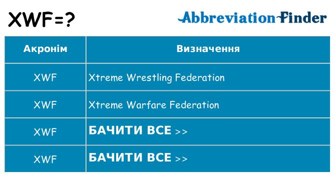 Що xwf означають