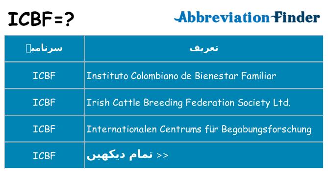 کیا icbf کھڑا کرتا ہے کے لئے