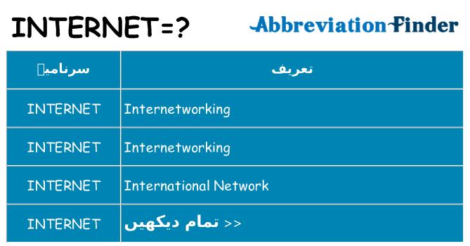 کیا internet کھڑا کرتا ہے کے لئے