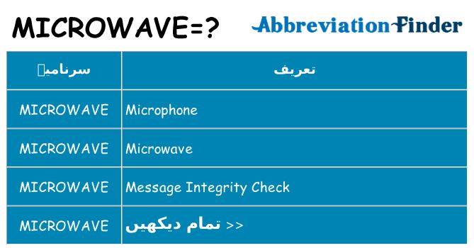 کیا microwave کھڑا کرتا ہے کے لئے