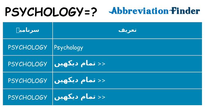 کیا psychology کھڑا کرتا ہے کے لئے