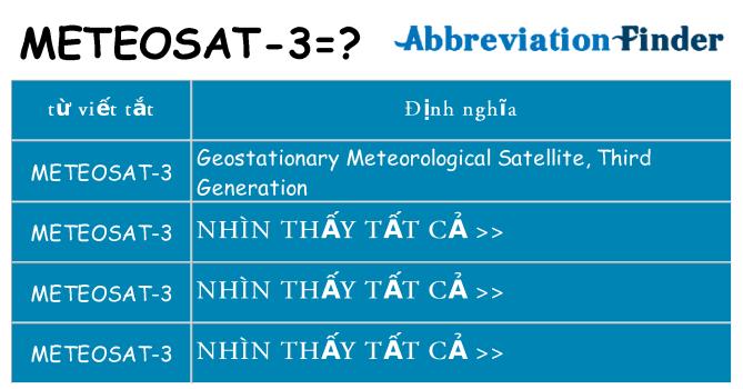 meteosat-3 hiện những gì đứng cho