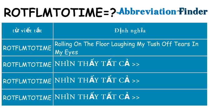 rotflmtotime hiện những gì đứng cho