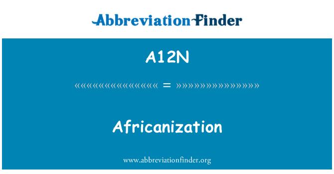 A12N: Africanization