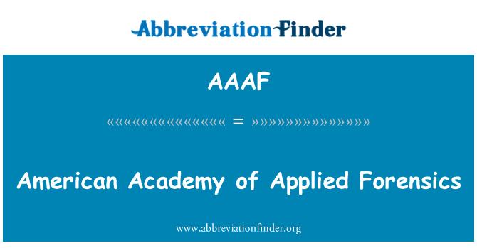AAAF: La Academia Americana de medicina forense aplicada