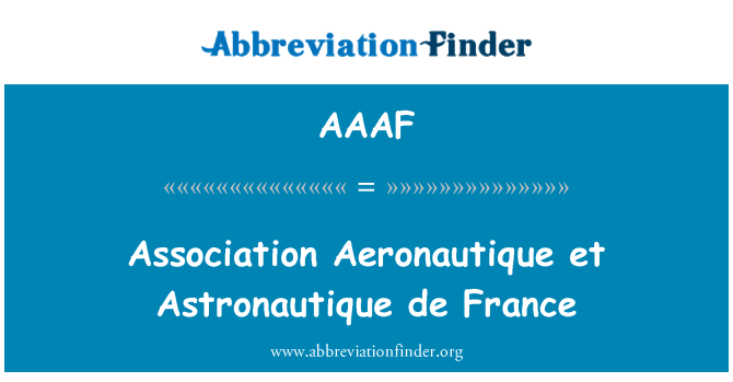 AAAF: Asociación Aeronautique et Astronautique de France