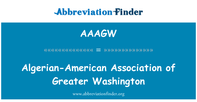 AAAGW: Algerian-American Association of Greater Washington
