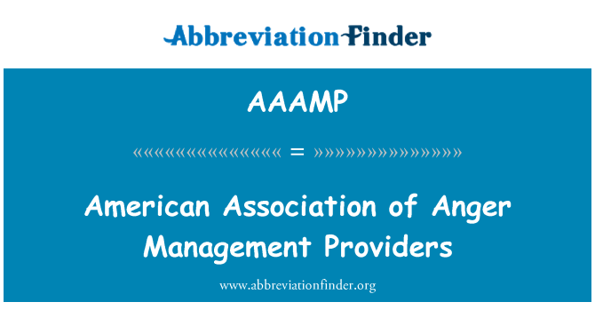 AAAMP: American Association of Anger Management Providers
