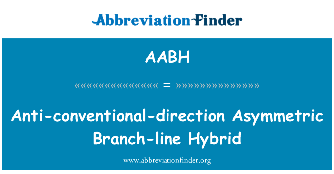 AABH: Anti-conventional-direction Asymmetric Branch-line Hybrid