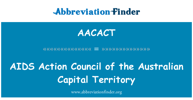 AACACT: AIDS Action Council of the Australian Capital Territory