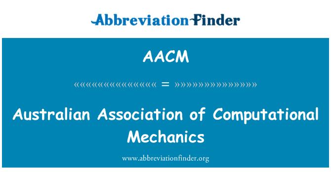 AACM: Asociación australiana de mecánica computacional