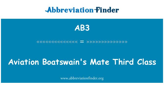 AB3: Aviation Boatswain's Mate Third Class