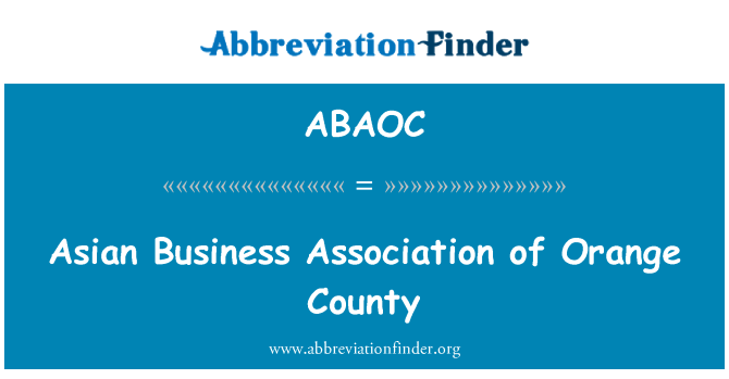 ABAOC: Asian Business Association of Orange County