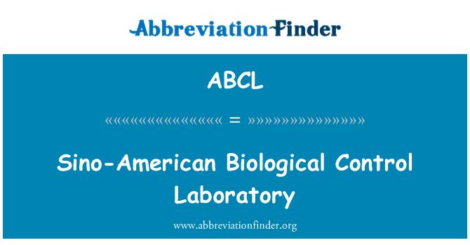 ABCL: Laboratorio de Control biológico de China-EEUU