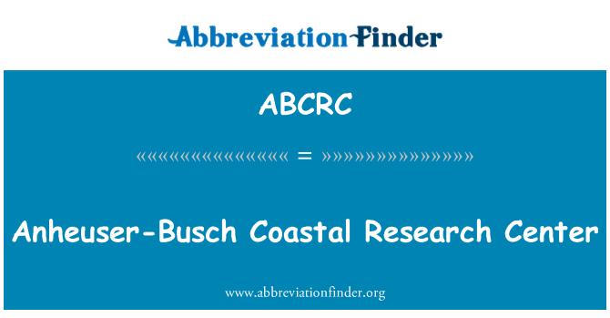 ABCRC: Anheuser-Busch Coastal Research Center