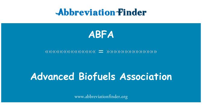 ABFA: Advanced Biofuels Association