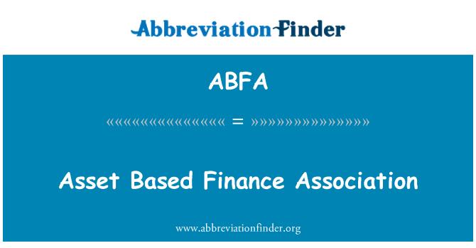 ABFA: Asset Based Finance Association