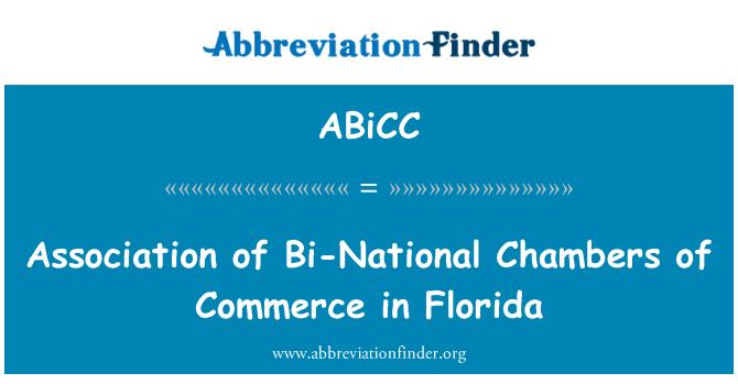 ABiCC: Asociace Bi národní komory na Floridě
