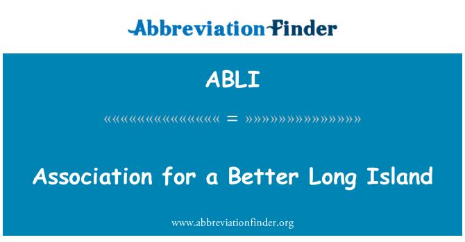 ABLI: Association for a Better Long Island