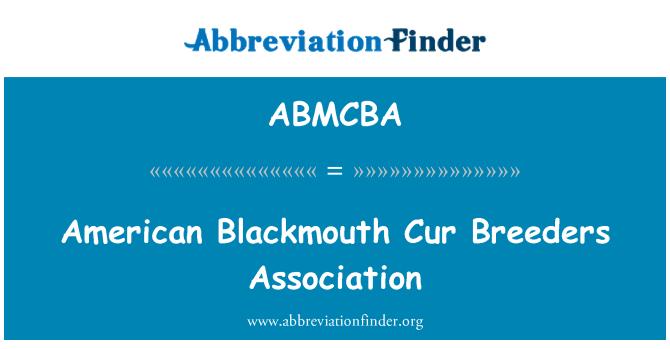 ABMCBA: American Blackmouth Cur Breeders Association