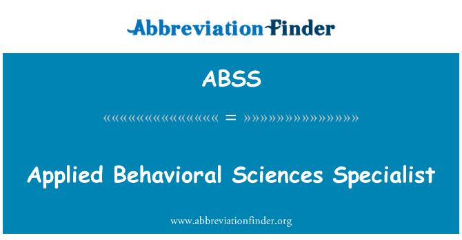 ABSS: Rakendatud käitumisteadused spetsialist