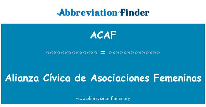 ACAF: Sukobima Cívica de Asociaciones Femeninas