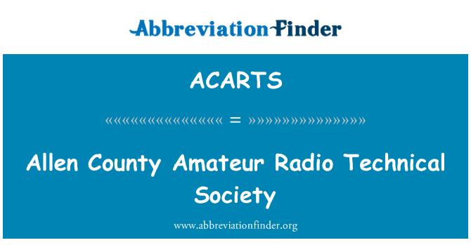 ACARTS: Allen County Amateur Radio Technical Society