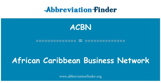 ACBN: Red de negocios Caribe africano
