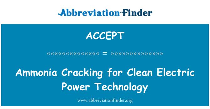 ACCEPT: Amoníaco grietas para tecnología de energía eléctrica limpia