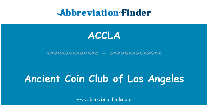 ACCLA: Ancient Coin Club of Los Angeles