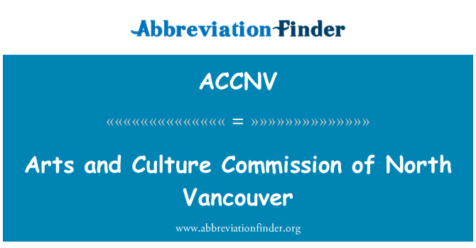 ACCNV: Arts and Culture Commission of North Vancouver