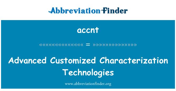 accnt: 高级定制的表征技术