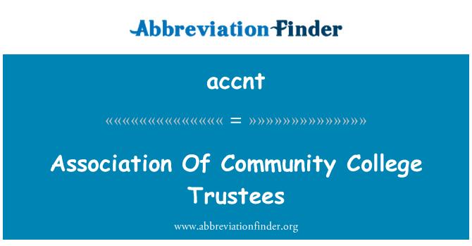 accnt: Persatuan Amanah kolej komuniti