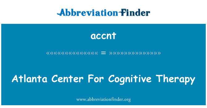 accnt: 认知疗法的亚特兰大中心
