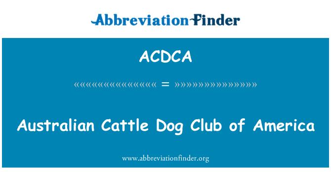 ACDCA: Australian Cattle Dog Club of America