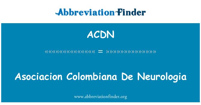 ACDN: Asociacion Colombiana De Neurologia