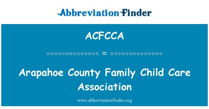 ACFCCA: Arapahoe County Family Child Care Association