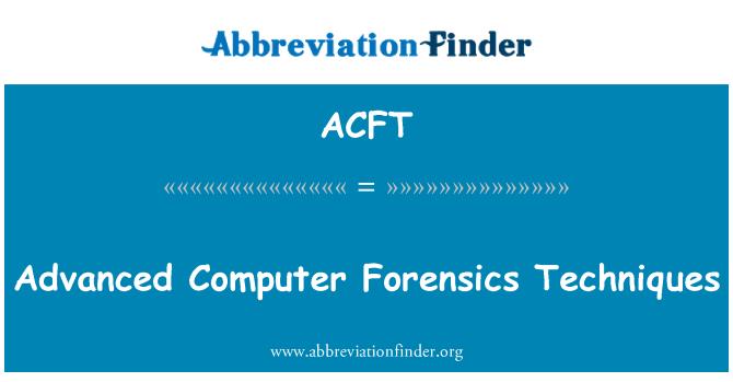 ACFT: Advanced arvuti kohtumeditsiini meetodite
