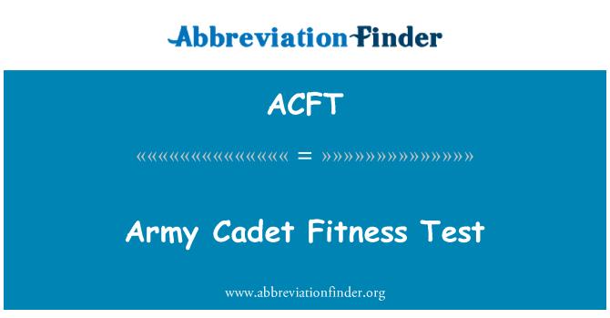 ACFT: Ordu askeri öğrenci Fitness Test