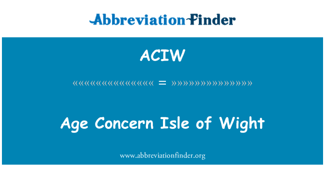 ACIW: Věku obavy Isle of Wight