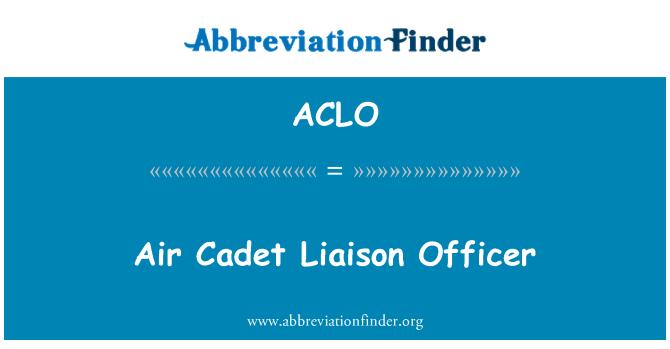 ACLO: Oficial de enlace de cadete de aire