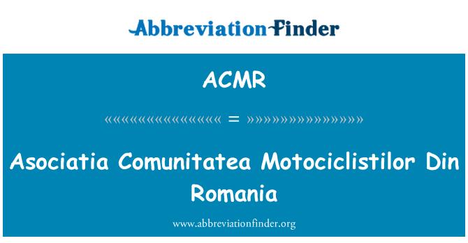 ACMR: Asociatia Comunitatea Motociclistilor Din Romania