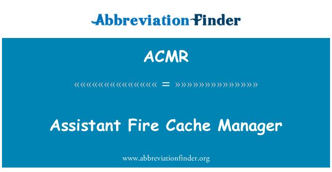 ACMR: Asistente administrador de caché de fuego
