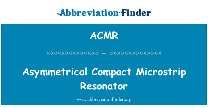 ACMR: Resonador Microstrip compacto asimétrico