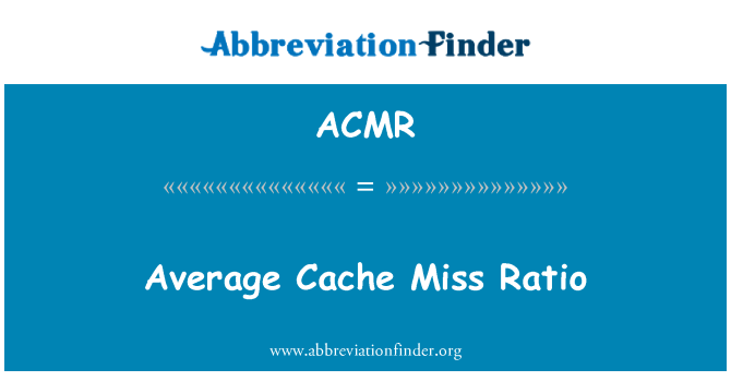 ACMR: Proporción media Cache Miss