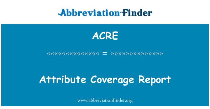 ACRE: Attribut-Coverage-Bericht