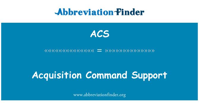 ACS: Pembelian perintah sokongan